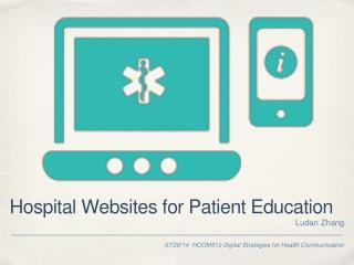Hospital Websites for Patient Education