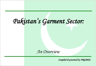 Pakistan's Garment Sector: