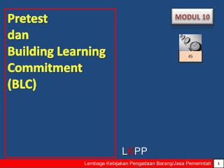 Pretest  dan  Building Learning Commitment (BLC)