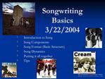 Songwriting Basics by paul sheldon