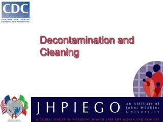 Decontamination and Cleaning
