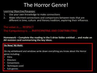 The Horror Genre!