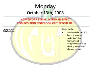 Monday October 13th, 2008
