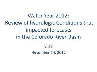 CRFS  November  14, 2012
