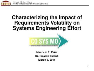 Characterizing the Impact of Requirements Volatility on Systems Engineering Effort