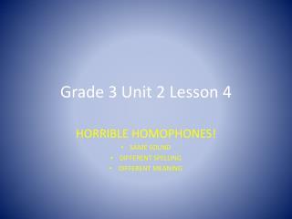 Grade 3 Unit 2 Lesson 4