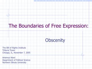 The Boundaries of Free Expression: