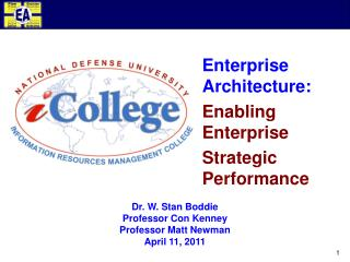 Enterprise Architecture: Enabling Enterprise Strategic Performance