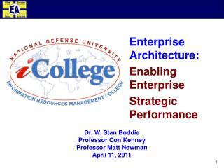 Enterprise Architecture: Enabling Enterprise Strategic Performance