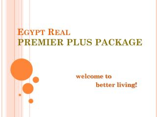 Egypt Real  PREMIERPLUS PACKAGE