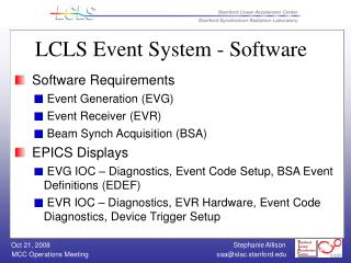 LCLS Event System - Software