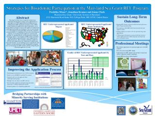 Strategies for Broadening Participation in the Maryland Sea Grant REU Program