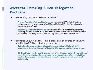 American Trucking  & Non-delegation Doctrine