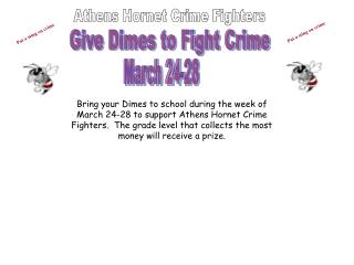 Athens Hornet Crime Fighters