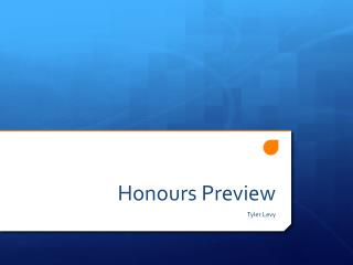 Honours  Preview