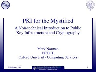 PKI for the Mystified