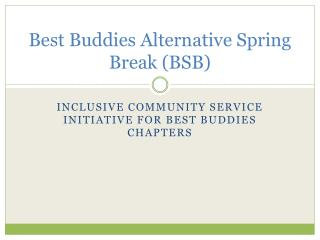 Best Buddies Alternative Spring Break (BSB)