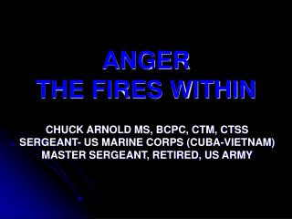 ANGER  THE FIRES WITHIN