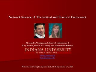 Network Science: A Theoretical and Practical Framework