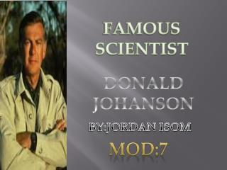 DONALD JOHANSON
