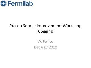 Proton Source Improvement Workshop Cogging