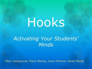 Hooks Activating Your Students' Minds