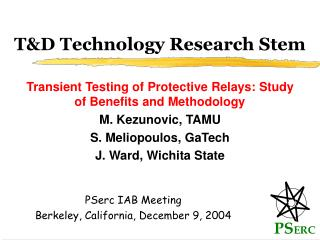 T&D Technology Research Stem