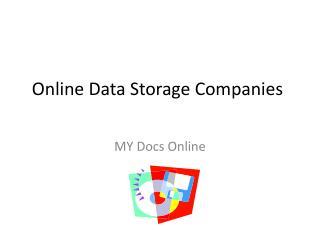 Online Data Storage Companies