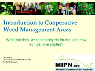 Introduction to Cooperative Weed Management Areas