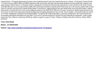 Imperia Sector 110 Gurgaon, 9540919669, Imperia Dwarka Expre