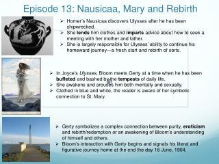 Episode 13:  Nausicaa , Mary and Rebirth