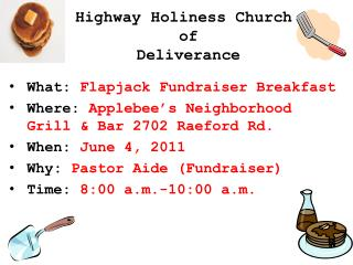 Highway Holiness Church  of  Deliverance