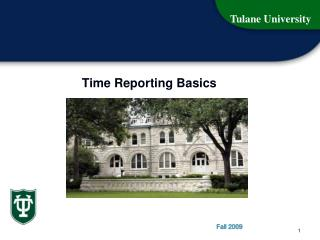 Time Reporting Basics