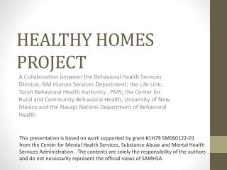 HEALTHY HOMES PROJECT