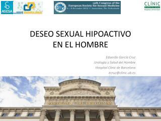 DESEO SEXUAL HIPOACTIVO  EN EL HOMBRE