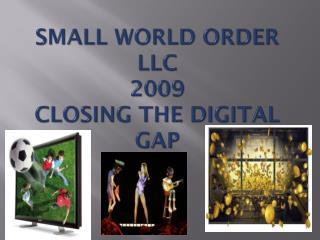 SMALL WORLD ORDER LLC 2009 Closing The Digital Gap