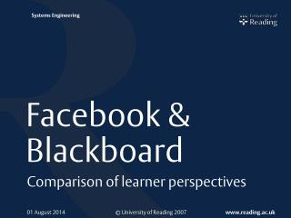 Facebook & Blackboard