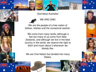 God bless Australia! WE ARE ONE!
