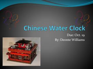 Chinese Water Clock