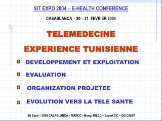 SIT EXPO 2004   E-HEALTH CONFERENCE