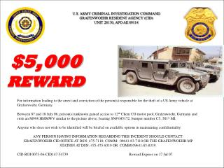 U.S. ARMY CRIMINAL INVESTIGATION COMMAND GRAFENWOEHR RESIDENT AGENCY (CID)