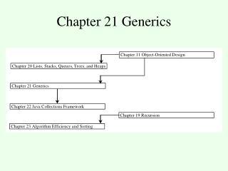 Chapter 21 Generics