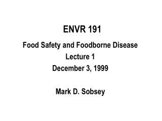 ENVR 191