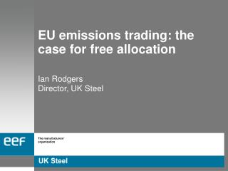 EU emissions trading: the case for free allocation