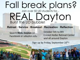 Join over  50 UD students for...