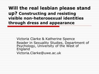 Victoria Clarke & Katherine Spence