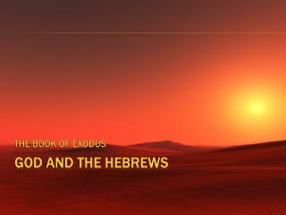 God  and The  Hebrews