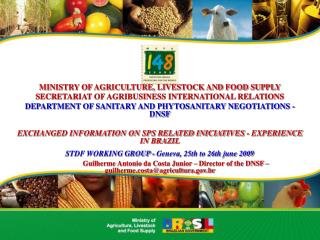 MINISTRY OF AGRICULTURE, LIVESTOCK AND FOOD SUPPLY