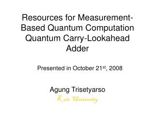 Quantum Computing   with Quantum Dots