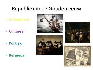 Republiek in de Gouden eeuw
